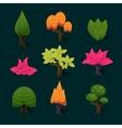Isolated Set of Cartoon Tree vector image