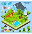 Landscape Design Isometric vector image
