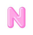 letter n candy font caramel alphabet lollipop vector image