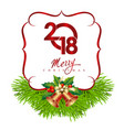 new year s card with the inscription vector image