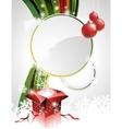 on a christmas theme vector image