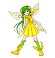 Pixie Yellow vector image