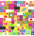Social network background with media icons vector image