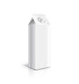 White carton packaging for milk or yogurt vector image