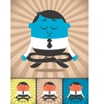 Meditation vector image vector image