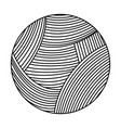 ball of wool icon vector image