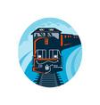 Diesel Train traveling on tracks vector image vector image