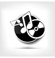 Music web icon vector image vector image