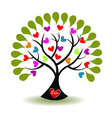 Tree of love logo vector image