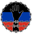 violation of human righs in Donetsk vector image vector image