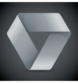 Moebius origami white paper triangle on grey vector image