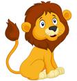 Cartoon lion sitting vector image