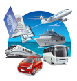 travel and journey transport vector image vector image