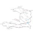 Haiti Black White Map vector image vector image