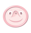 Condom with funny face vector image