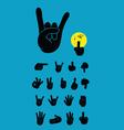 Finger silhouette vector image