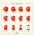 funny apple year vector image