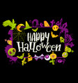 happy halloween banner with colors vector image
