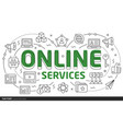 lines template online services vector image