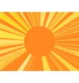 retro orange background pop art pattern vector image
