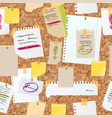 sticker notes pined on board seamless vector image