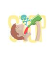 stop alcohol bad habit alcoholism concept vector image
