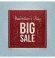 Valentines Day red square paper greeting Banner vector image