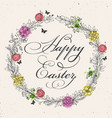 vintage greeting card for easter vector image