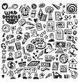 Web - doodles set vector image