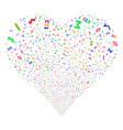math symbols fireworks heart vector image