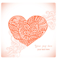 Floral heart Heart made of abstract ornamentDoodle vector image