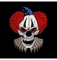 cartoon evil clown vector image vector image