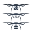Drone Icons vector image