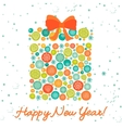 Celebration background with Christmas gift box vector image