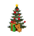 christmas gifts design vector image
