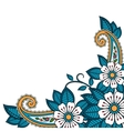 Henna flower and paisley background vector image