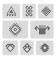 monochrome icons with Persian ethnic symbols vector image