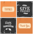 retro style thanksgiving greeting cards set vector image