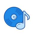 vinyl record line icon vector image