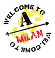 Milan stamp rubber grunge vector image