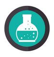 color circular emblem with glass circular beaker vector image