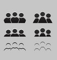 set of different balck and white icons of men and vector image