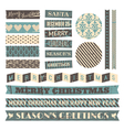 vintage style christmas design elements set vector image vector image
