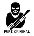 Criminal person logo vector image vector image