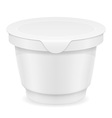 plastic container of yogurt or ice cream 03 vector image