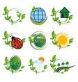 natural elements for design vector image