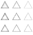 Triangular Shape Set vector image