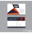Abstract modern Business cards Design Template vector image vector image