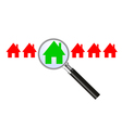 Searching for a house vector image vector image
