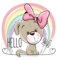 Cute Dog Girl vector image